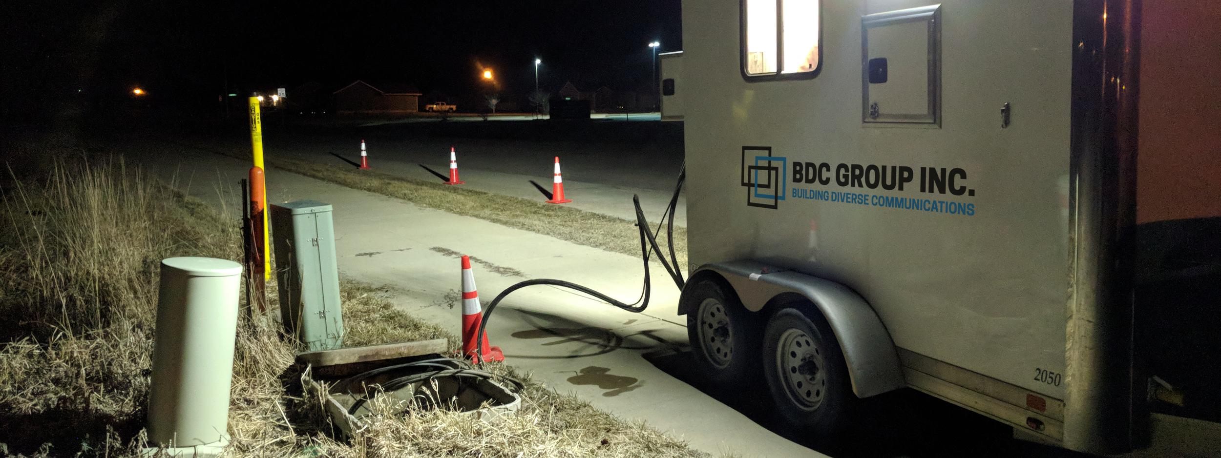BDC Group Night Fiber Splicing